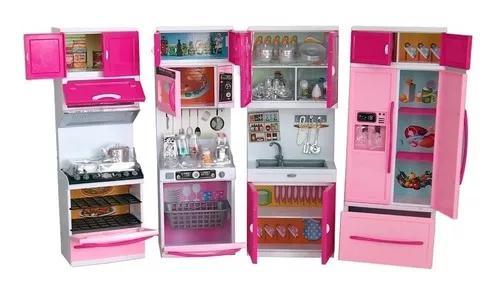 Cozinha infantil de brinquedo princesa completa kitchen