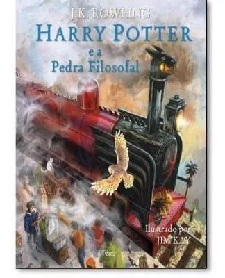 Harry potter e a pedra filosofal -edição ilustrada capa