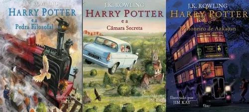 Harry potter ilustrado volumes 1 2 e 3
