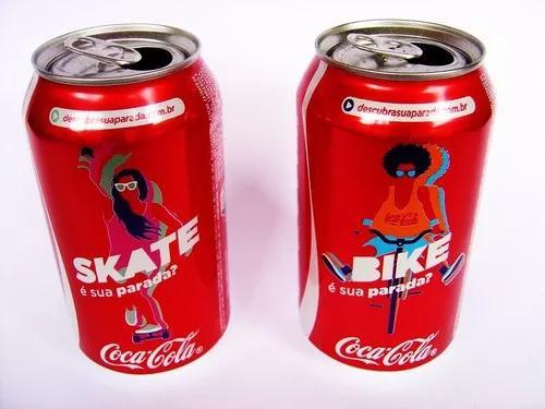 Lote latas coca cola descubra qual é sua parada bike e