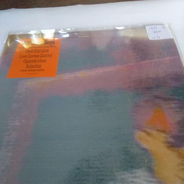 Pet shop boys disco de vinil, lp disco de 1989