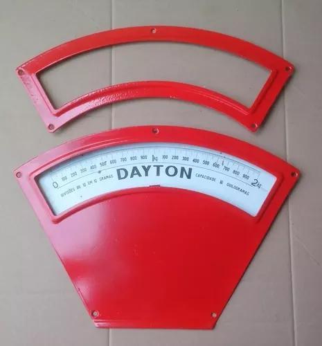 Quadrante balança antiga dayton 10 kg completo - peça