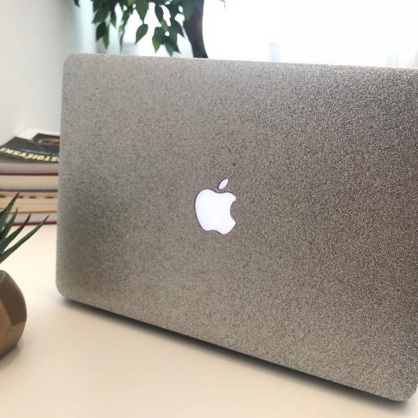 Capa case macbook air 13 (2012/2017) glitter prata cinza