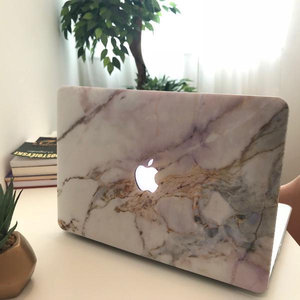 Case capa pra macbook air 11 cor mármore (marble) -modelos