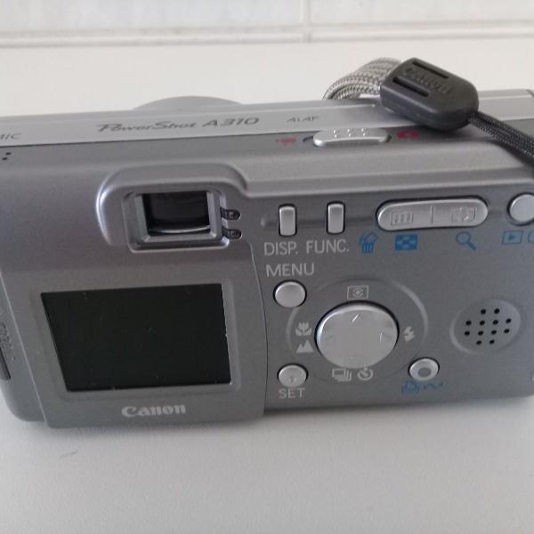 Câmera fotográfica canon powershot a310 com todos