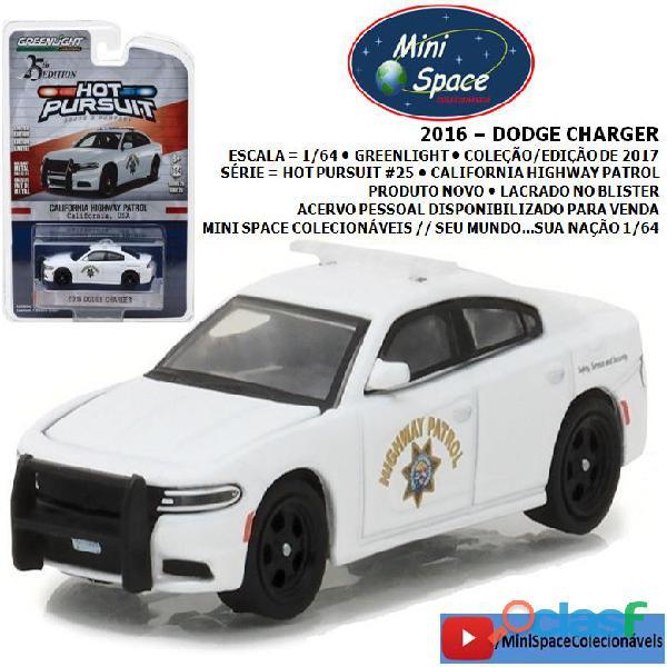 Greenlight 2016 dodge charger depto polícia 1/64