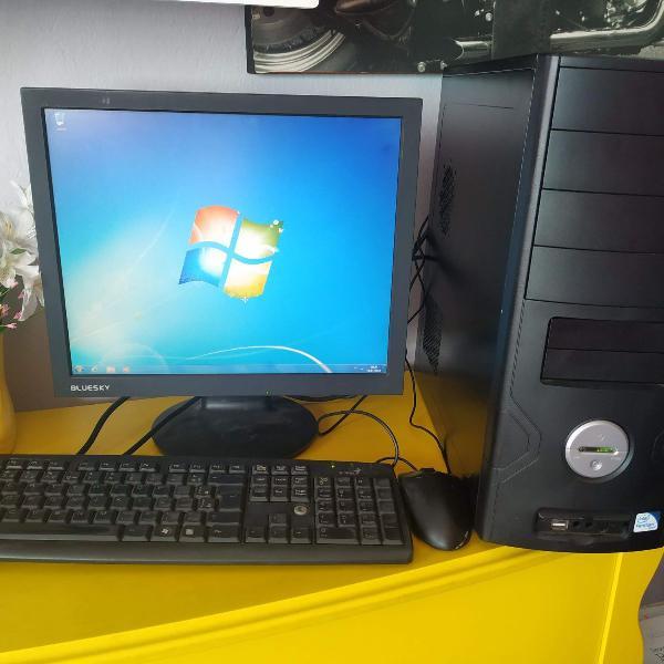 pc completo cpu dual core / 4gb ddr3 / hd 500 gb e monitor,