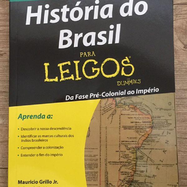 Livro história do brasil para leigos - maurício grillo