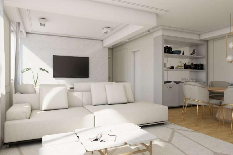 Maravilhoso apartamento com 110m² e 3 quartos em moema, a 5