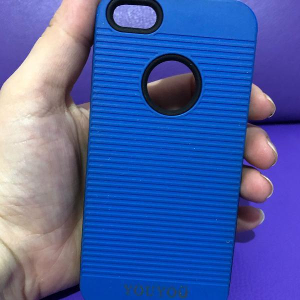 Case iphone 5/5s azul e preto