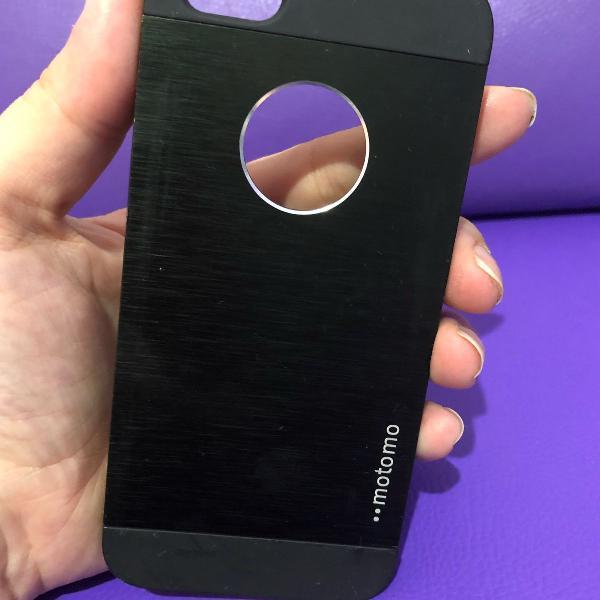 Case iphone 5/5s preto metálico