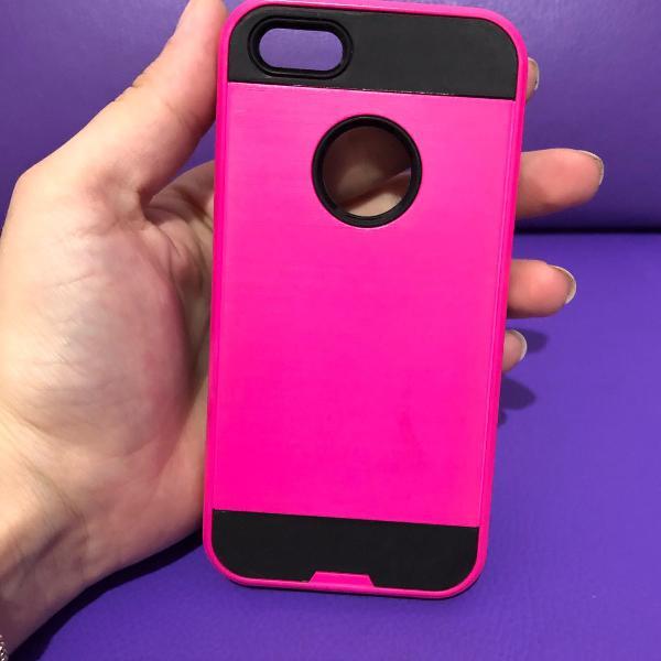 Case iphone 5/5s rosa e preto