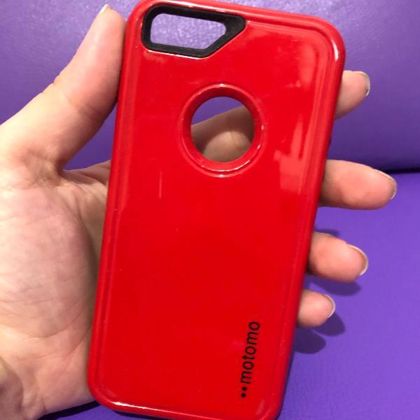 Case iphone 5/5s vermelho e preto
