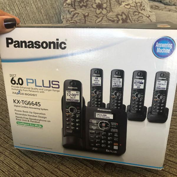 Telefone panasonic com 5 bases