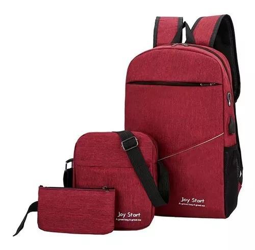 3 pçs/set mochilas unissex viag