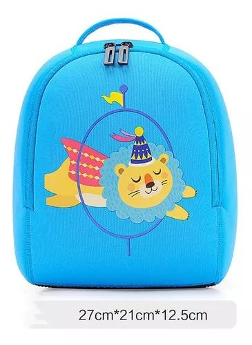 Bolsa escolar crianças mergulho material boyson (azul)