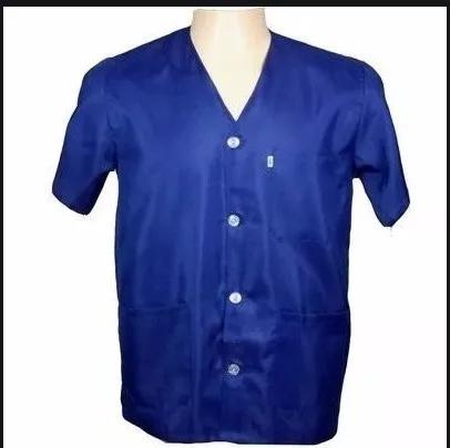 Jaleco curto manga curta branco ou azul s