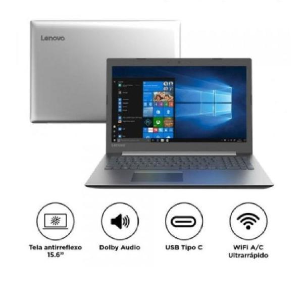 Notebook lenovo ideapad i3, 4gb ram, 1tb, windows 10 tela