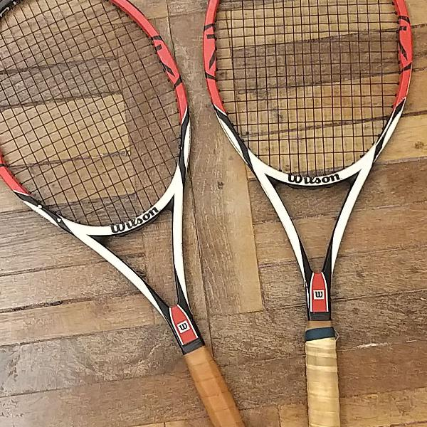 Raquetes de tênis wilson six.one tour - duas unidades