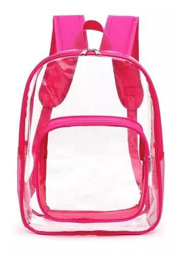 Transparente grandes bolsas escolares impermeáveis mulheres