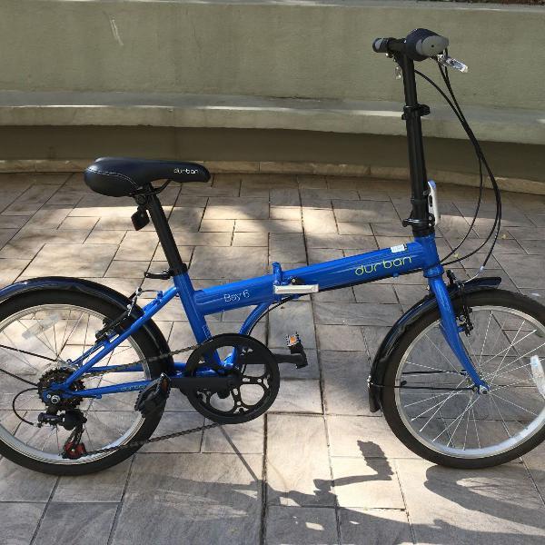 Bicicleta dobrável durban bay 6 - azul