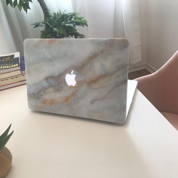 Case capa pra macbook air 13 cor mármore -modelos a1369