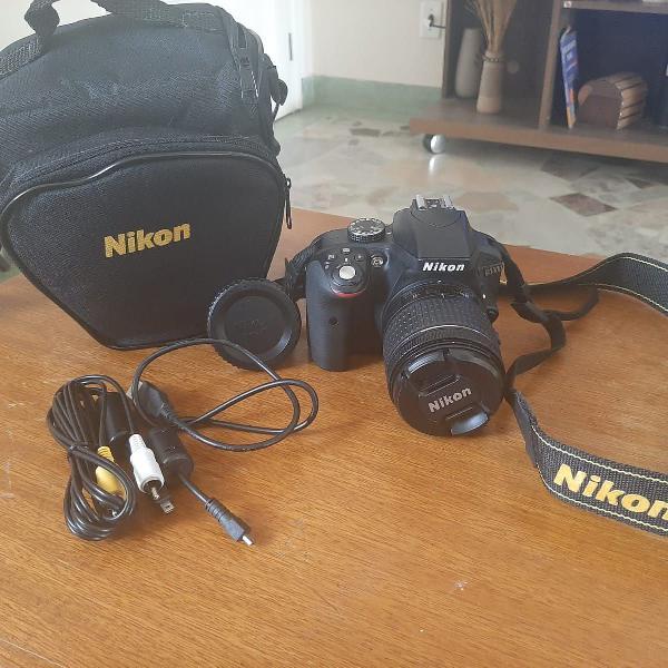 Câmera digital nikon d3300 dslr com lente 18-55mm