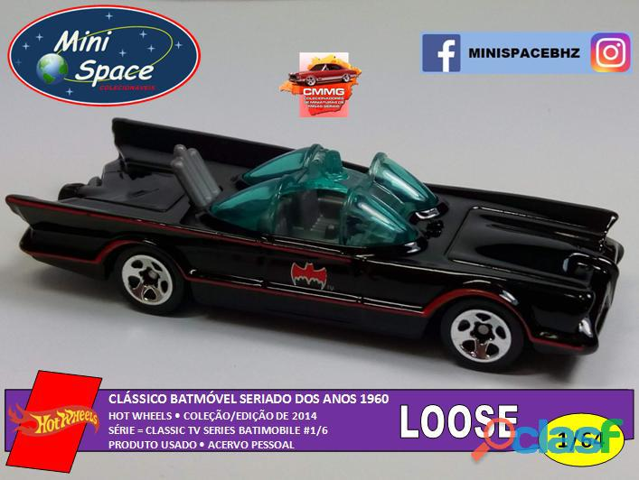 Hot wheels batmóvel clássico seriado anos 60 1/64   loose