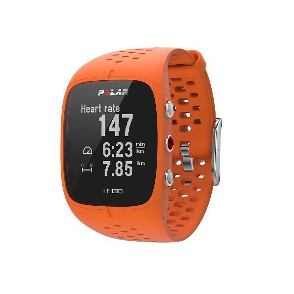 Monitor cardíaco polar m430 com gps - laranja