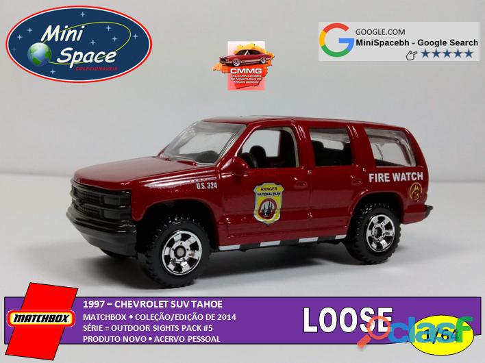 Matchbox 1997 chevrolet suv tahoe bombeiro 1/64 loose