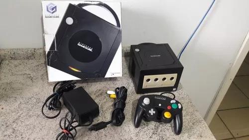 Console nintendo game cube completo com caixa e manuais