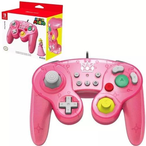 Controle gamecube hori usb super mario peach switch wii u