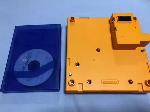 Gameboy player laranja p/ nintendo gamecube completo