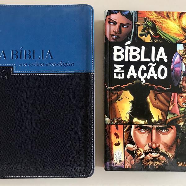 Bíblia em ação + bíblia em ordem cronológica