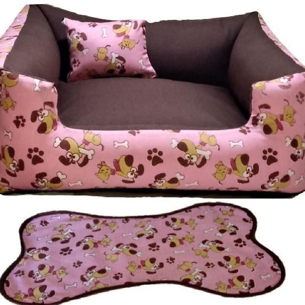 Cama pra cachorro grande 70x70 + tapetinho