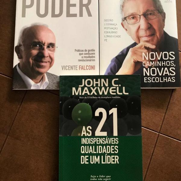 Kit 3 livros sobre liderança e gestão: abílio diniz,