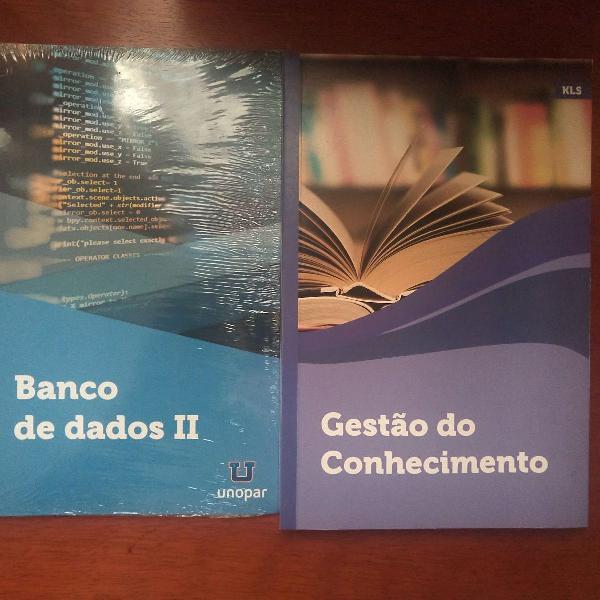 Kit livros gestão de conhecimento e banco de dados ii