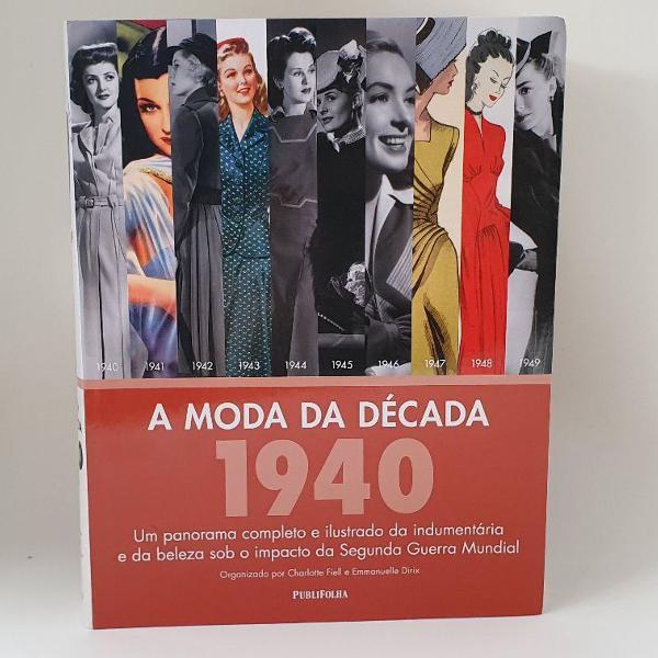 Livro a moda da década de 1940