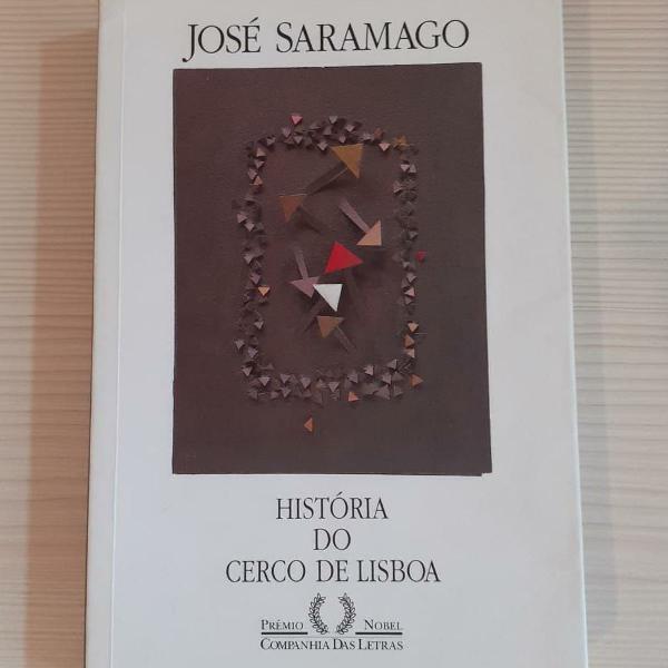 Livro história do cerco de lisboa - saramago
