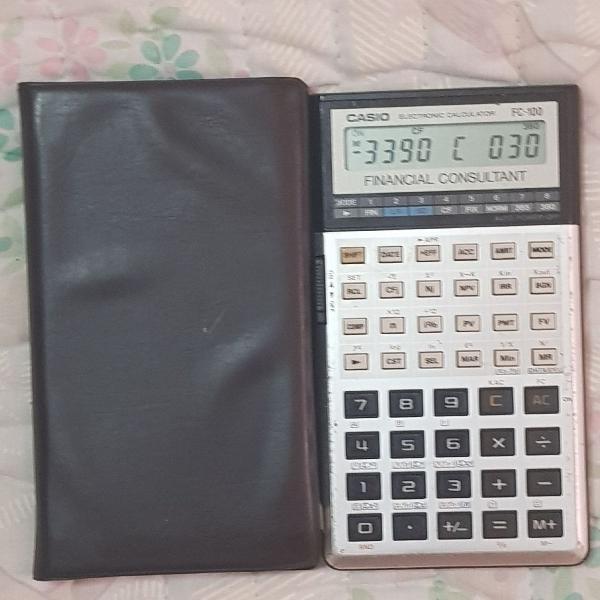 Calculadora financeira casio fc-100