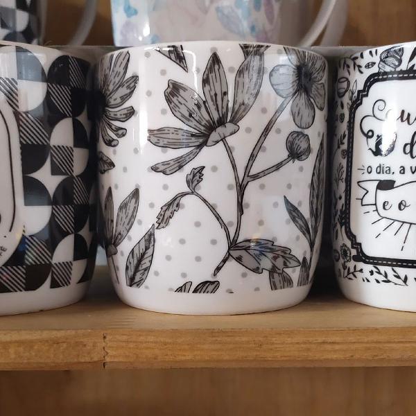 Canecas decorativas chá e café 250ml
