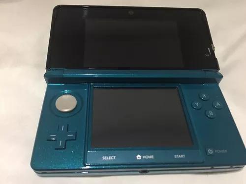 Console nintendo 3ds novíssimo azul aqua com capa nerf