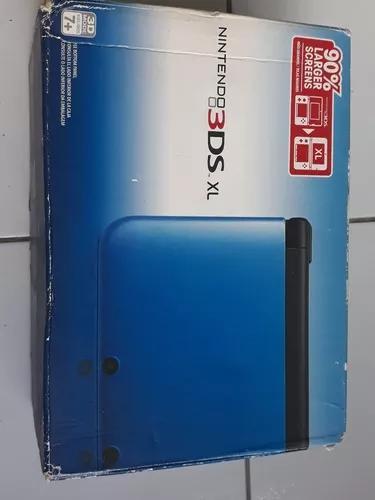 Excelente Nintendo 3ds Xl Azul Completo+8 Jogos Originais.