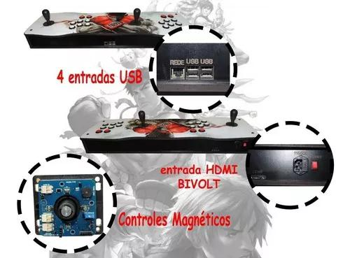 Fliperama portátil pró 100% digital magnético 20.000
