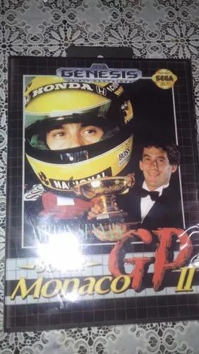 Jogo Ayrton Senna`s Super Monaco Gp 2 Para Mega Drive