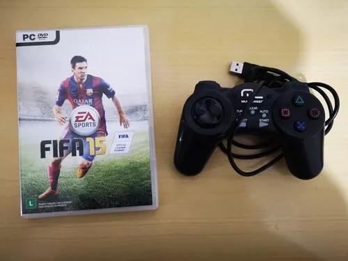 Jogo fifa 15 pc original joystick controle para pc