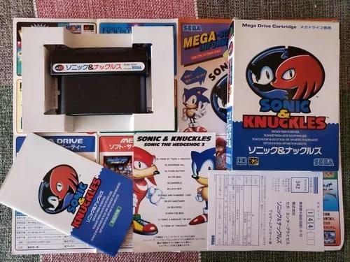 Mega drive sonic & knuckles original japonês completo