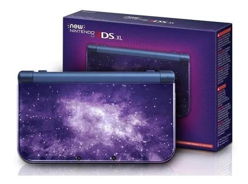 New 3ds xl desbloqueado + grip + case +32gb +carregador