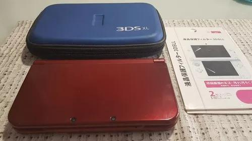 New 3ds xl vermelho+ cartão 64gb + dstwo + cartão 4gb +