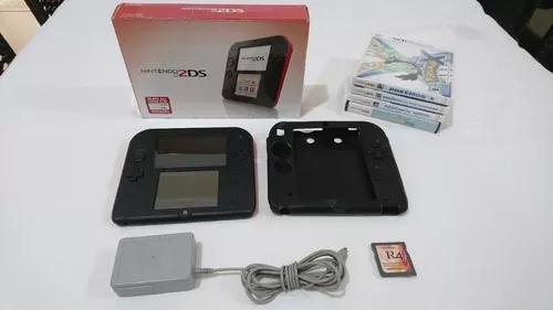 Nintendo 2ds desbloqueado 16gb com 4 jogos mídia física e